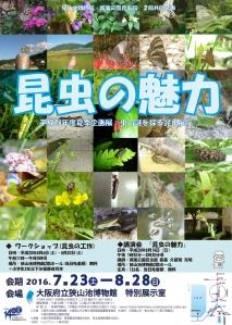 平成28年度夏季企画展 虫の謎を探る昆虫展 昆虫